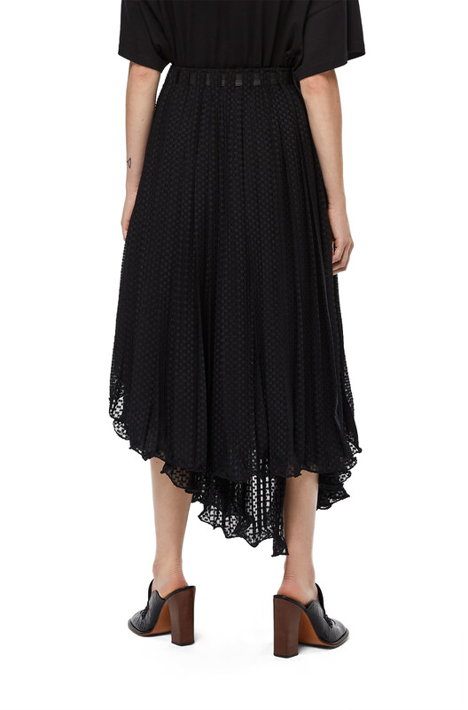 LOEWE Fil Coupe Skirt Black front