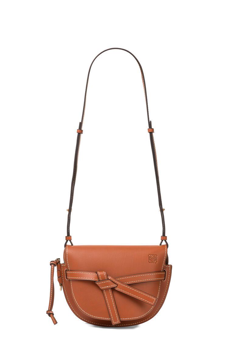 LOEWE Small Gate bag in natural calfskin Rust Color pdp_rd