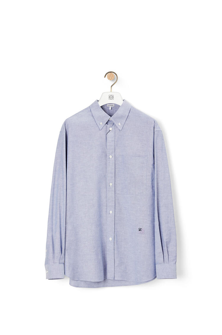 LOEWE Button down shirt in cotton Light Blue pdp_rd