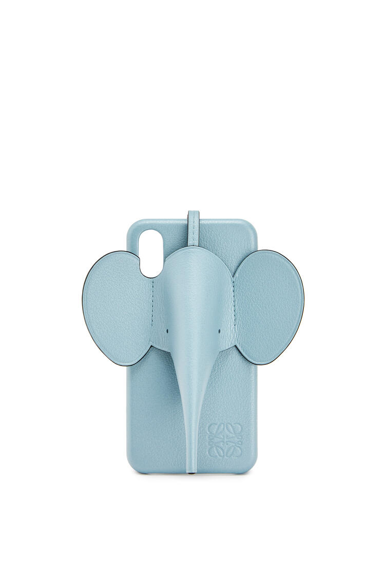LOEWE Elephant cover for iPhone X/XS in pearlized calfskin Light Blue pdp_rd