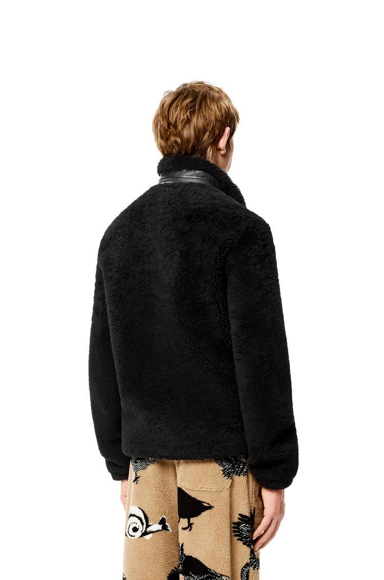 LOEWE Shearling jacket Black/Navy Blue pdp_rd