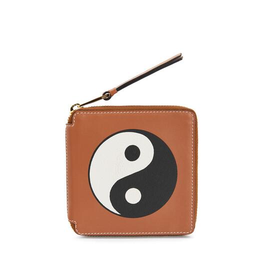 LOEWE Pau Yin Yang Square Zip Wallet Gold/Tan front