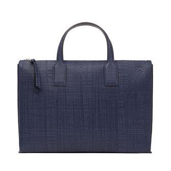 LOEWE Goya Simple Briefcase 海军蓝 front