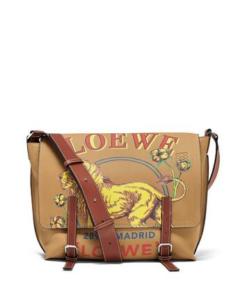 LOEWE Military Messenger Lion Bag Desert front