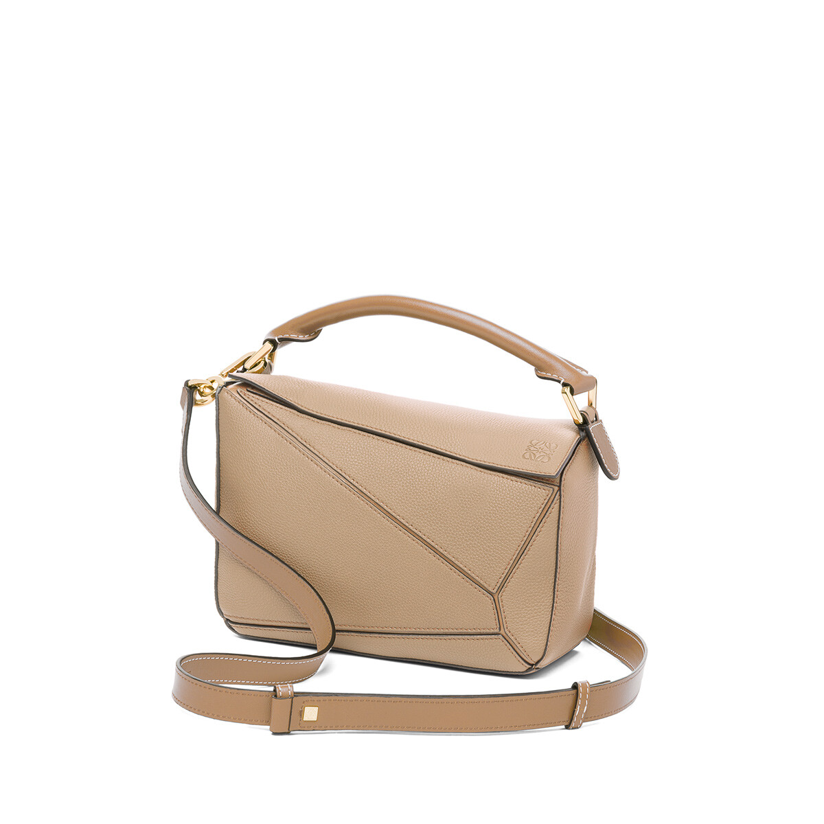 LOEWE Puzzle Small Bag Sand/Mink Color front