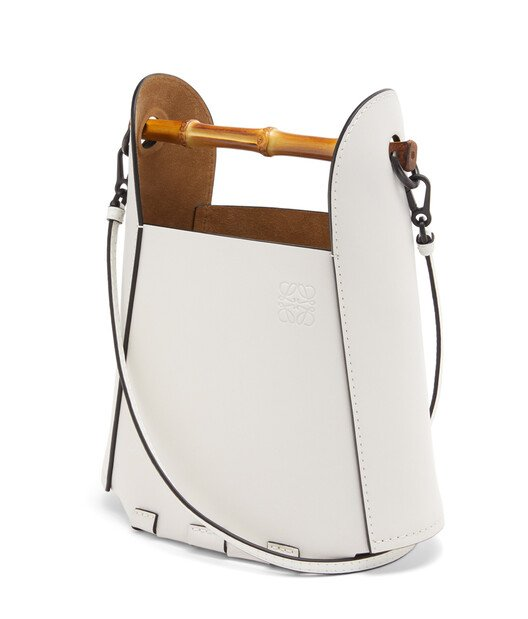 LOEWE Bamboo Bucket Bag Soft White front