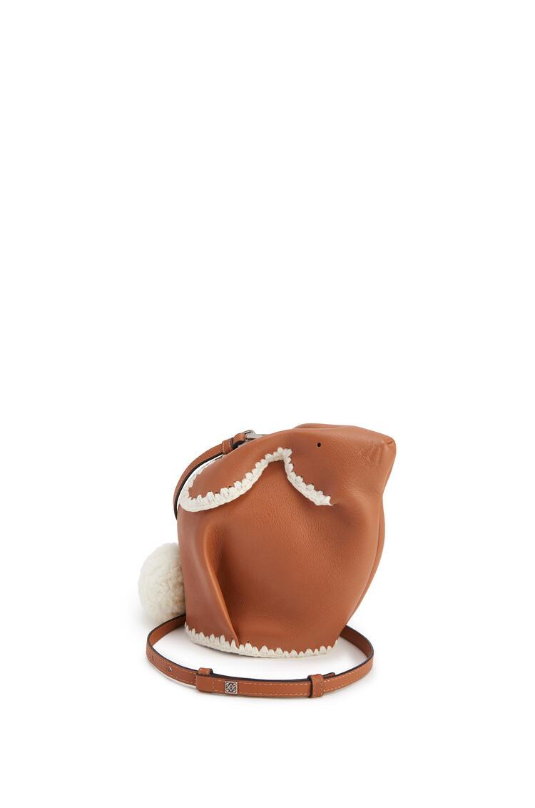 LOEWE Mini Bunny bag in classic calfskin Tan pdp_rd