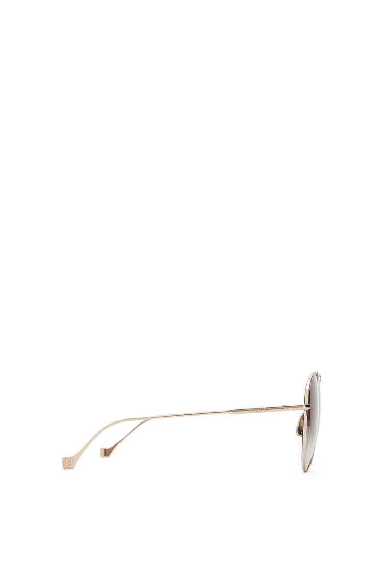 LOEWE Metal knot pilot sunglasses Rose Gold/Brown pdp_rd