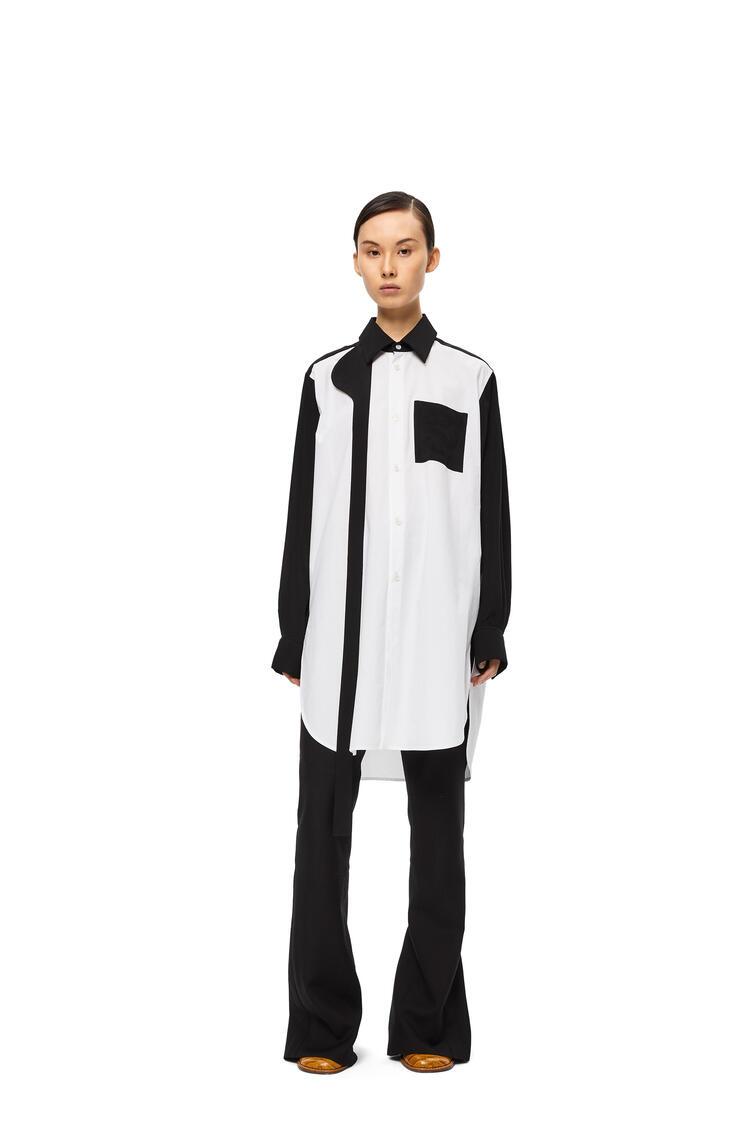 LOEWE Bicolor shirt in cotton White/Black pdp_rd