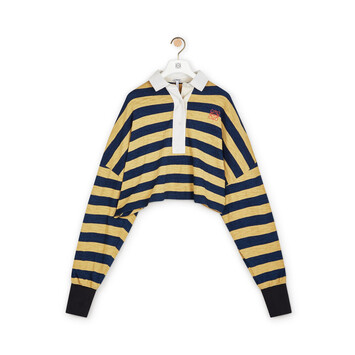 LOEWE Stripe Polo Yellow/Navy front