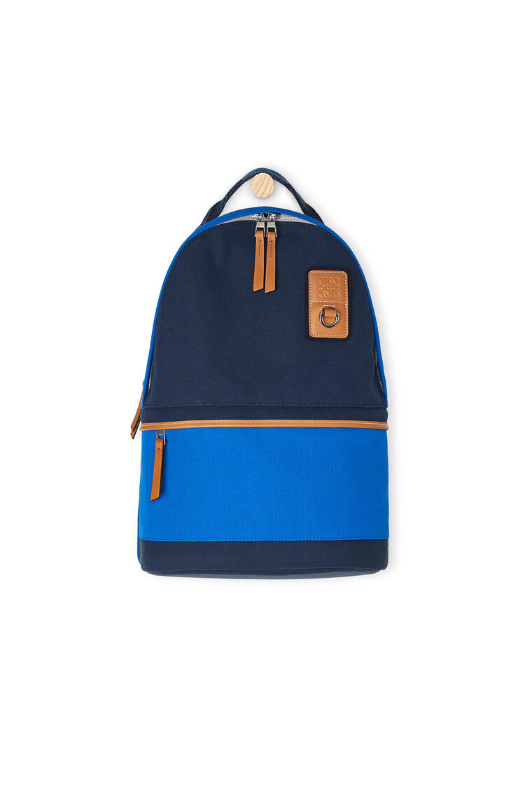 LOEWE Small backpack in canvas Electric Blue/Navy Blue pdp_rd