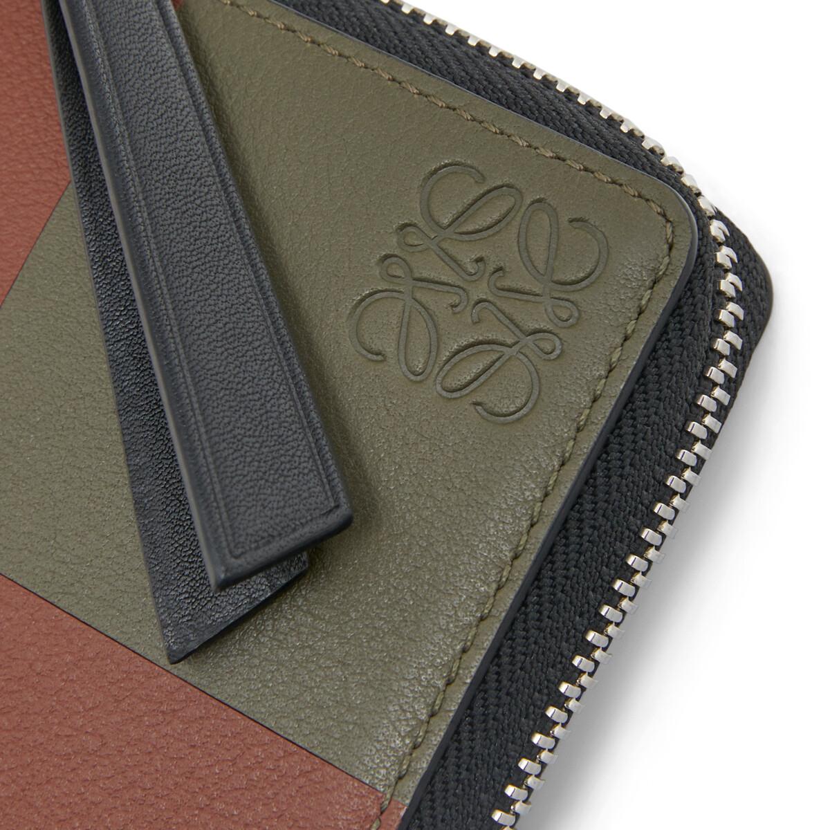 LOEWE Cartera Cuadrada Bicolor Verde Kaki/Coñac front