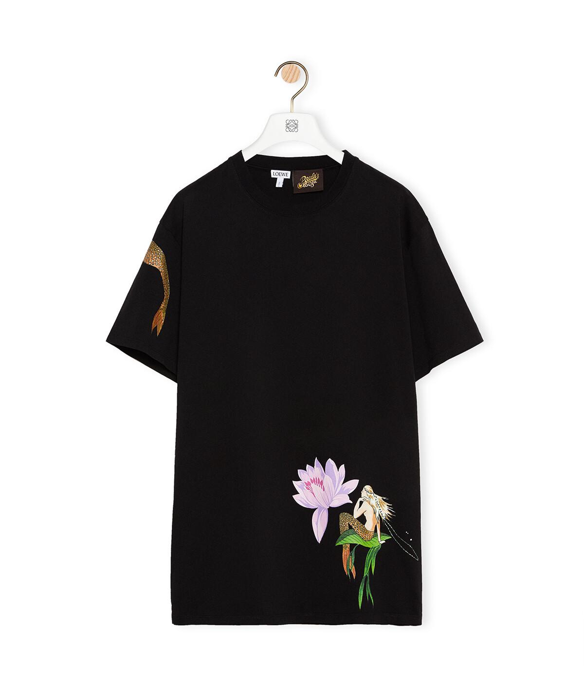 LOEWE T-Shirt In Mermaid Cotton Black front