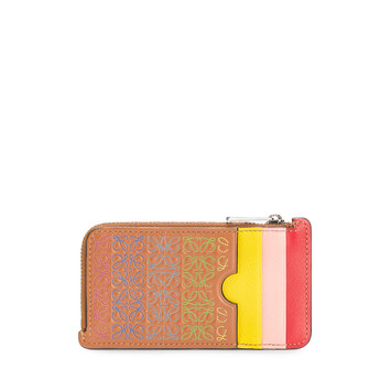 LOEWE Repeat C/C Holder Tan/Multicolor front