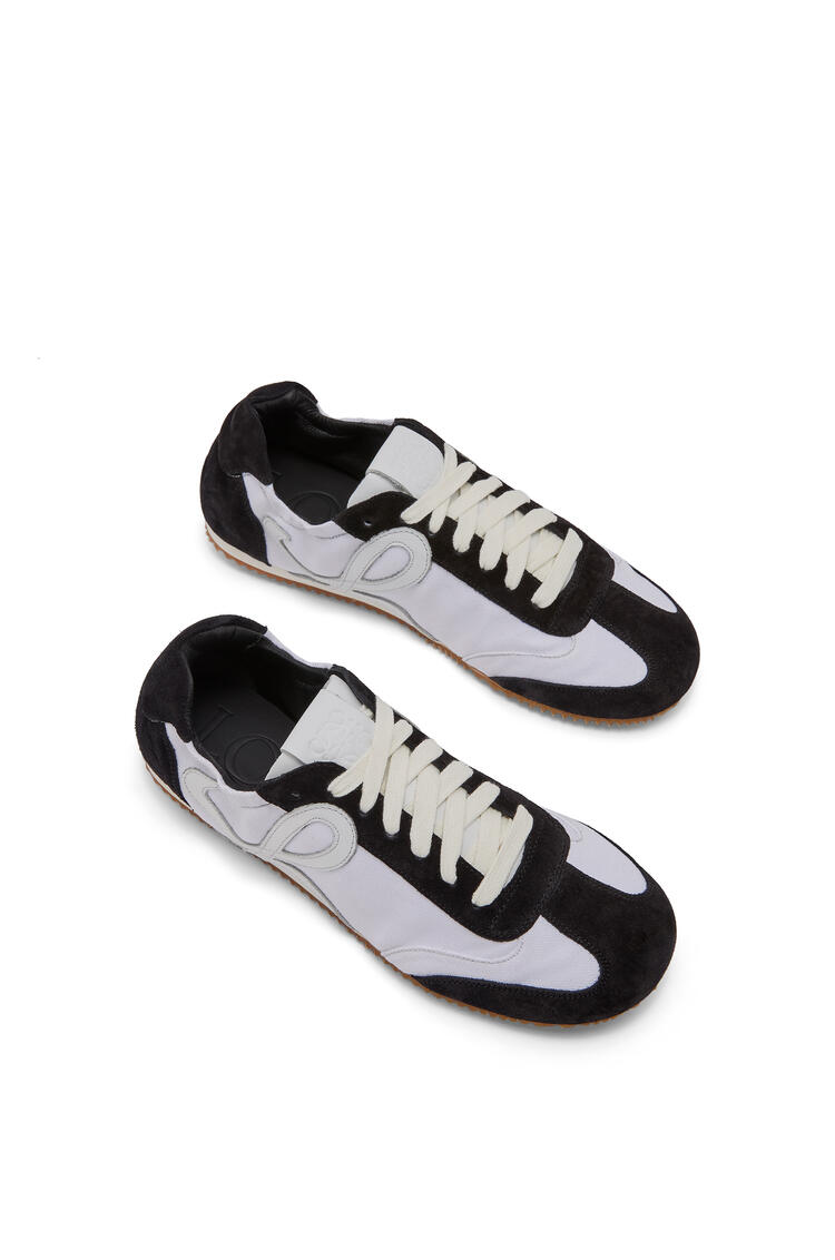 LOEWE Ballet runner in calfskin and nylon White/Black pdp_rd