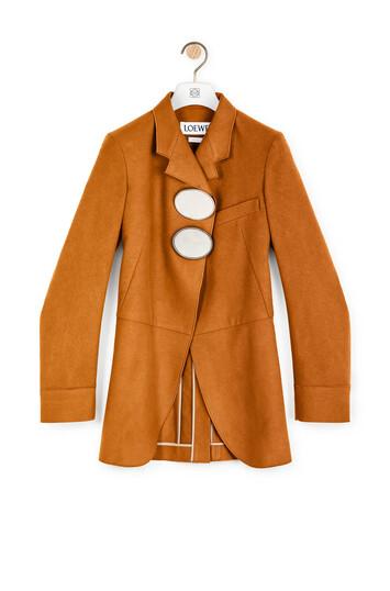LOEWE Buckle Jacket Camel front