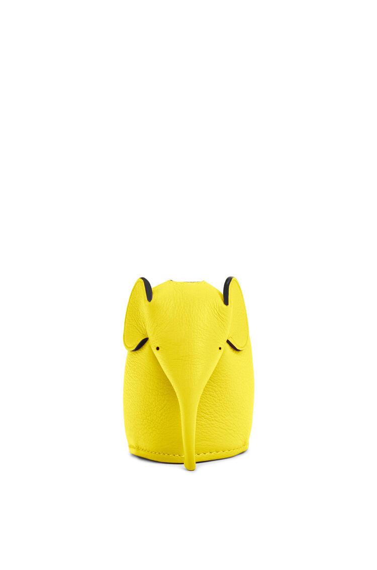LOEWE Elephant charm in classic calfskin Yellow pdp_rd