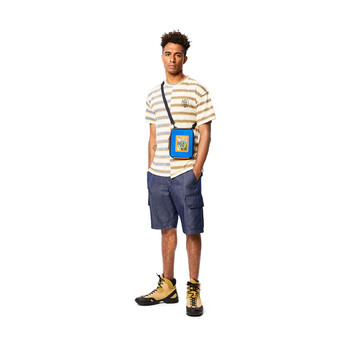 LOEWE Eye/Loewe/Nature Crossbody Bag Electric Blue/Navy Blue front