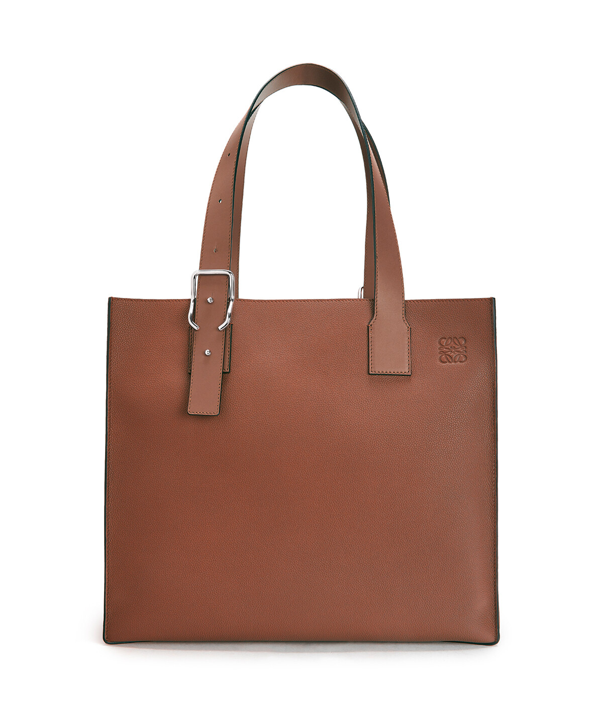 LOEWE Bolso Buckle Tote Coñac front