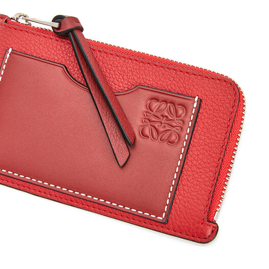 LOEWE Coin Cardholder Scarlet Red/Brick Red front