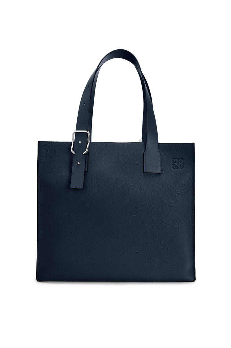 LOEWE Buckle tote bag in soft grained calfskin Midnight Blue pdp_rd