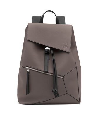 LOEWE Mochila Puzzle Gris Oscuro front
