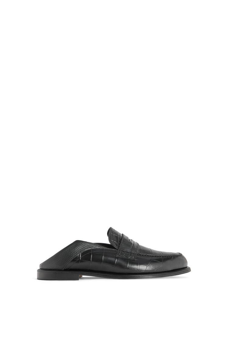 LOEWE Slip On Loafer In Calfskin 黑色/黑色 pdp_rd