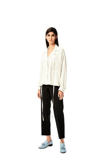 LOEWE Anagram pyjama blouse in satin White pdp_rd