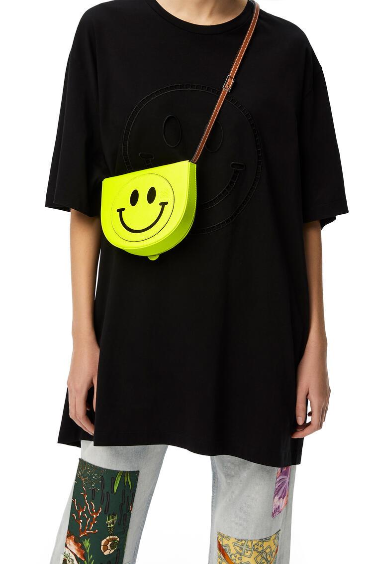 LOEWE Smiley® Heel bag in soft calfskin Neon Yellow pdp_rd