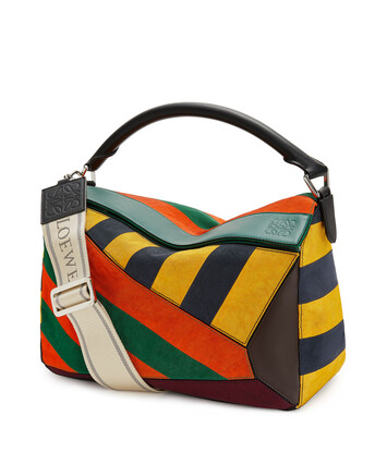 LOEWE Bolso Puzzle Rugby Grande Multicolor front