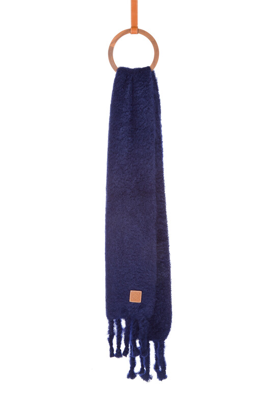 LOEWE 45X230 Scarf Plain Navy Blue front