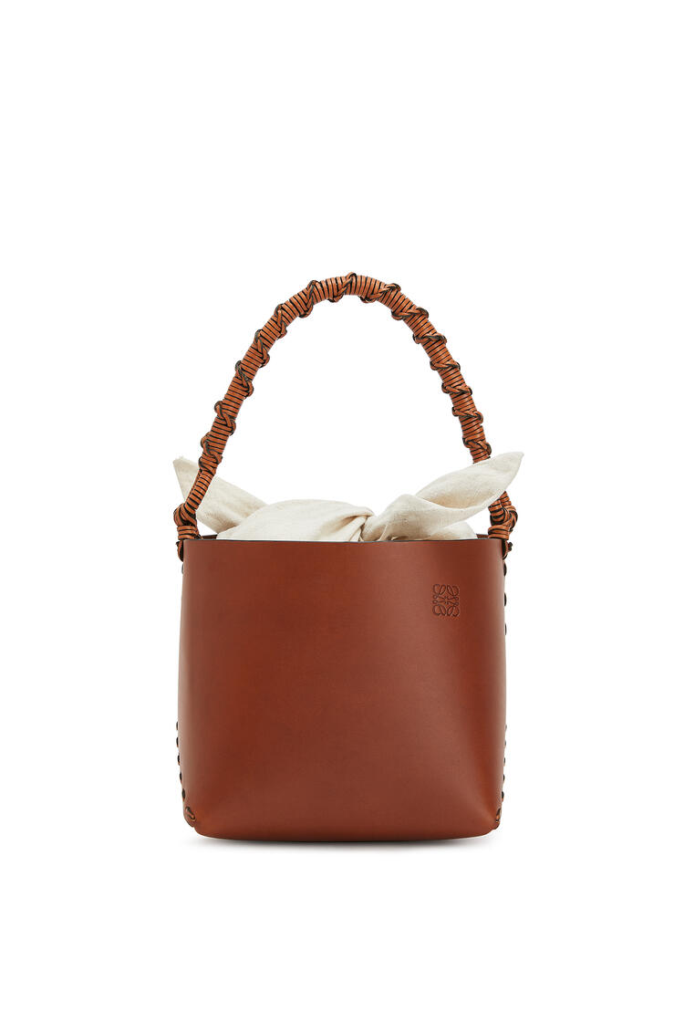 LOEWE Bucket square bag in calfskin 棕褐 pdp_rd