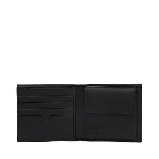LOEWE Linen Bifold Coin Wallet Marino front