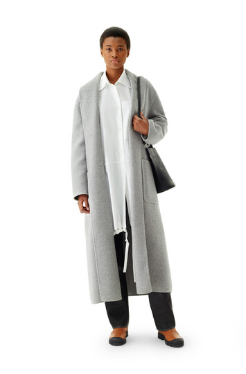 LOEWE Robe Coat Grey front