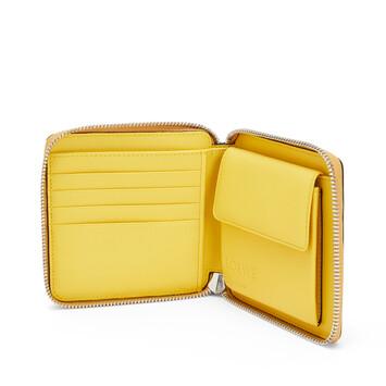 LOEWE Puzzle Square Zip Wallet Ochre/Yellow front
