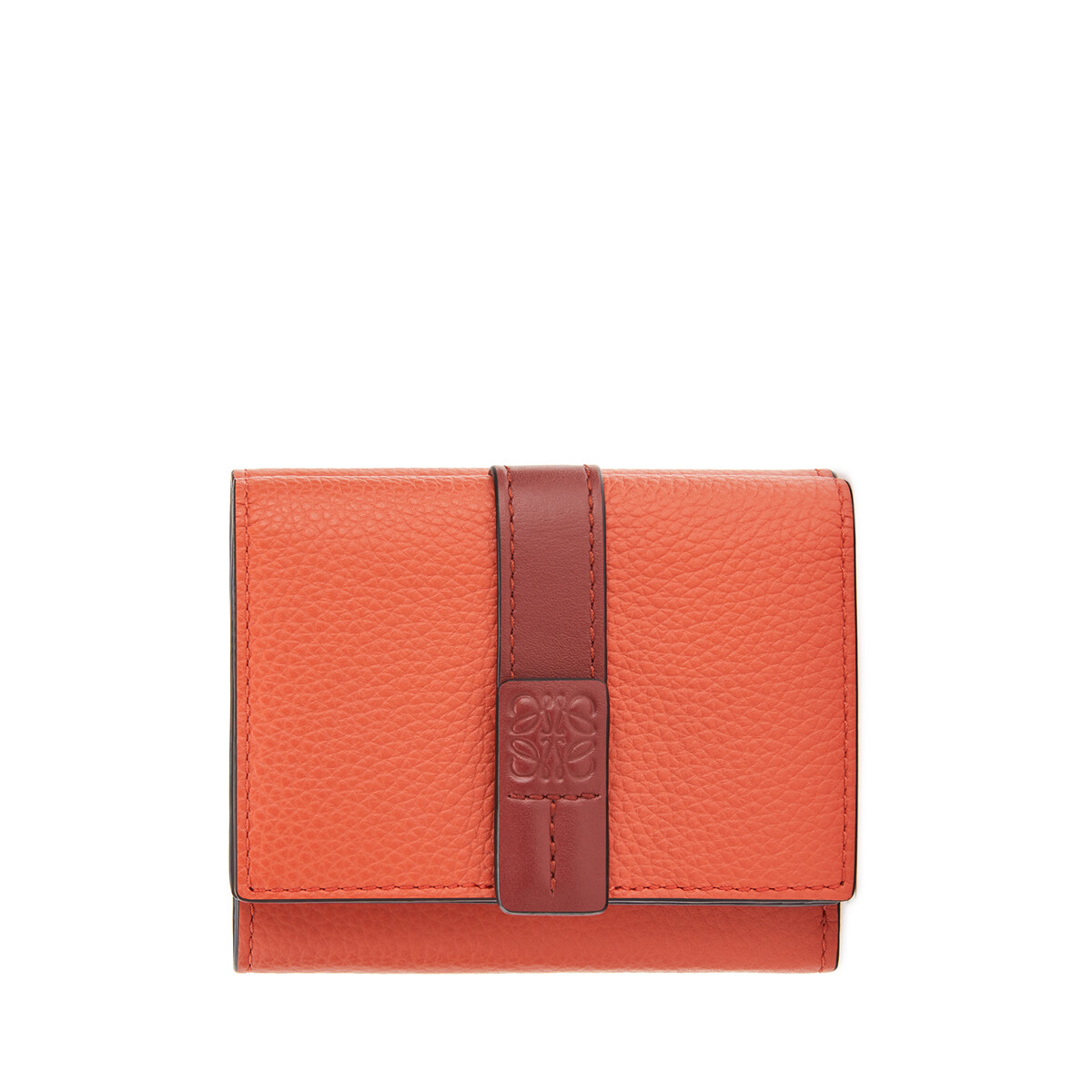 LOEWE Trifold Wallet Coral/Soft Apricot front