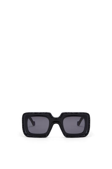 LOEWE Wave Sunglasses in acetate Shiny Black pdp_rd
