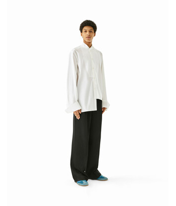 LOEWE Oversize Asymmetric Shirt Blanco front