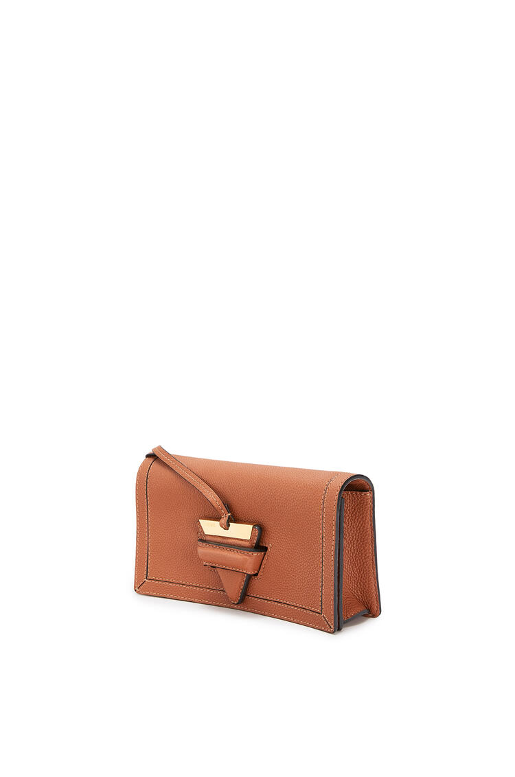 LOEWE Mini Barcelona soft bag in soft grained calfskin Tan pdp_rd