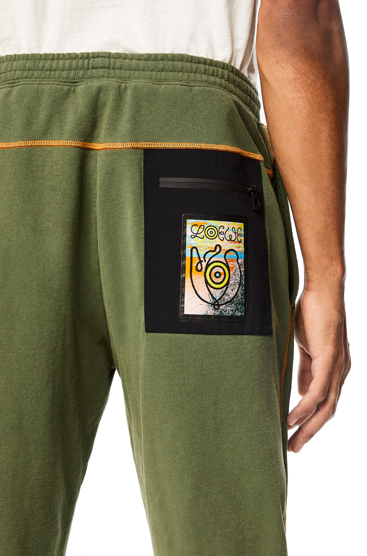 LOEWE Eln Fleece Trousers Khaki Green front