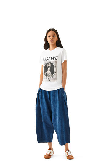 LOEWE LOEWE portrait t-shirt in cotton White/Brown pdp_rd