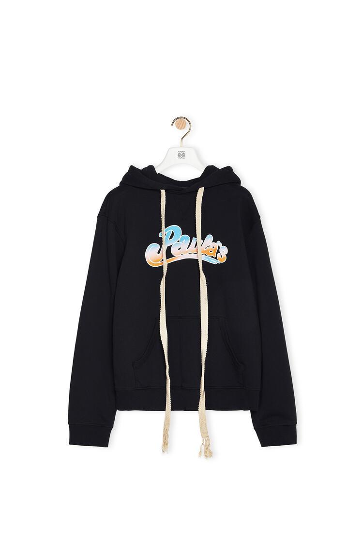 LOEWE Drawstring Hoodie In Cotton Black pdp_rd