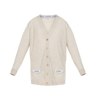 LOEWE Loewe Cardigan Off-White front