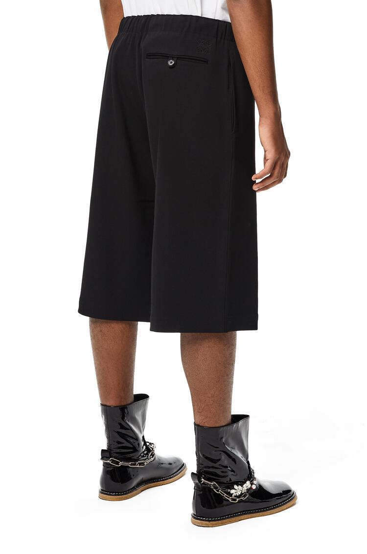 LOEWE Drawstring shorts in wool Black pdp_rd