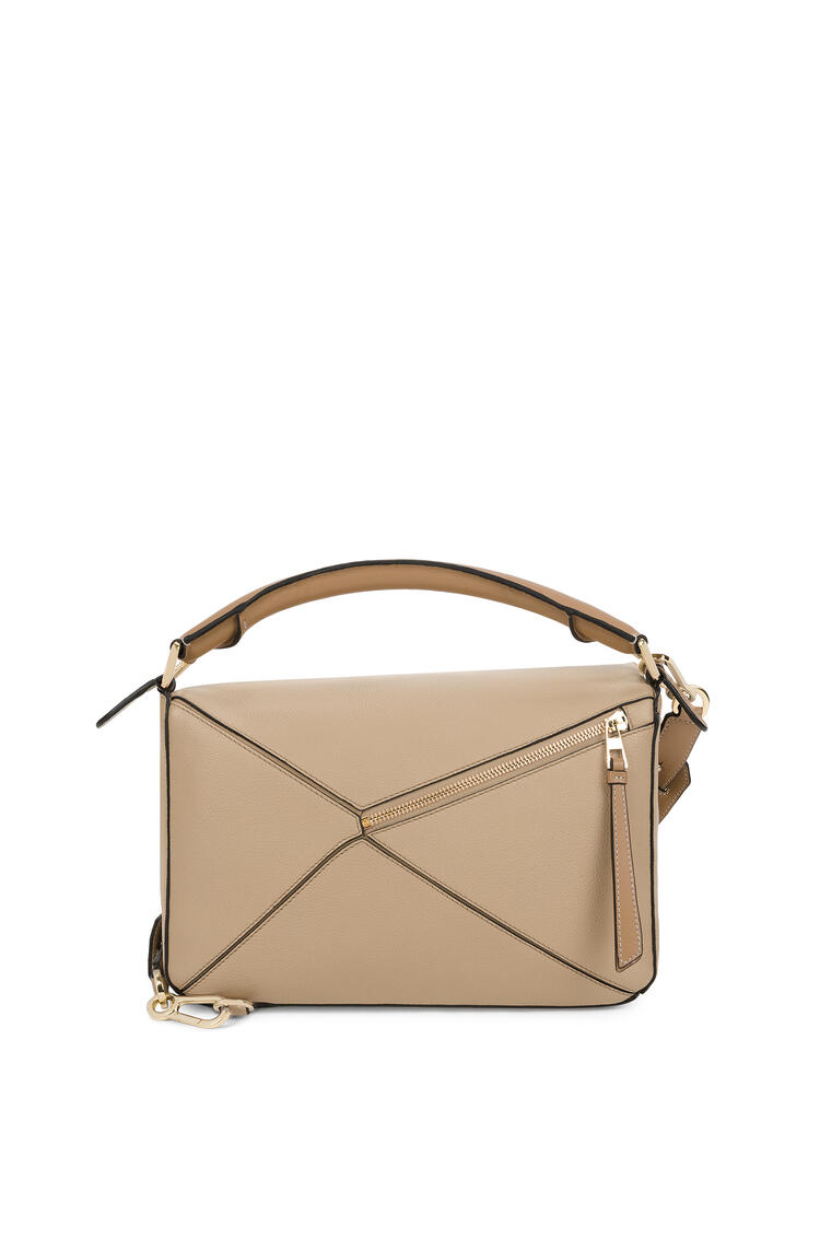 LOEWE Puzzle bag in soft grained calfskin Sand/Mink Color pdp_rd
