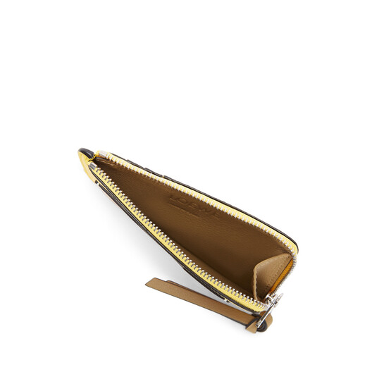 LOEWE Coin Cardholder Large Leaf/Yellow front