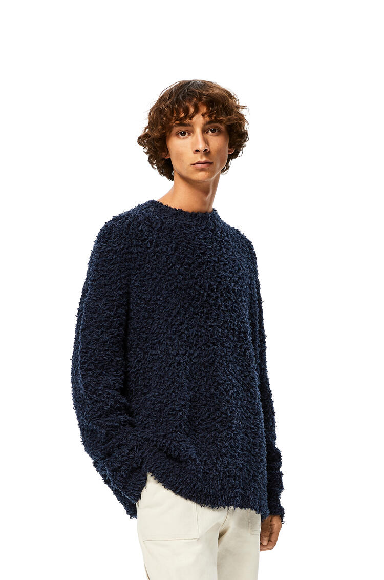LOEWE Jersey Yzzuf en lana con cuello redondo Marino pdp_rd