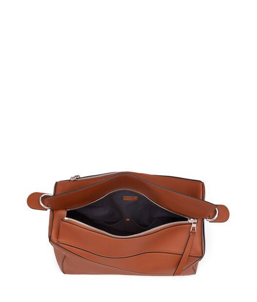 LOEWE Puzzle Xl Bag Rust Color front