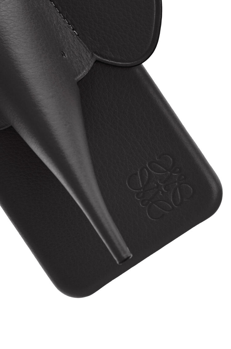 LOEWE Elephant cover for iPhone X/XS in classic calfskin Black pdp_rd