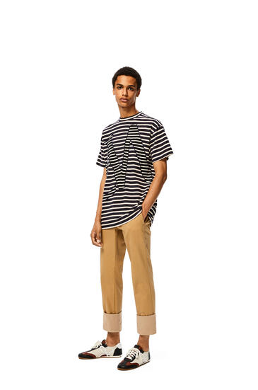 LOEWE Loewe T-shirt In Striped Cotton Blue/Red/White pdp_rd